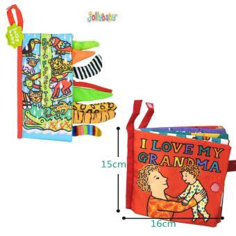 Bộ 2 Sách vải Jollybaby Rain forest Tails & I love my grandma cho bé chơi mà học