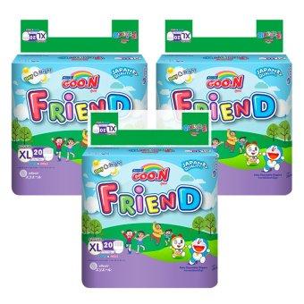 Bộ 3 gói Tã quần GOO.N Friend XL20 (12 -17 kg)