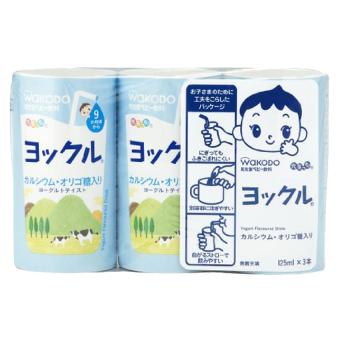 Lốc 3 hộp Sữa chua Wakodo bổ sung Canxi cho bé 9 tháng 125ml (Xanh dương trắng)