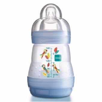 Bình sữa chống đầy hơi 160ml ( Núm vú 0M+) - Xanh dương