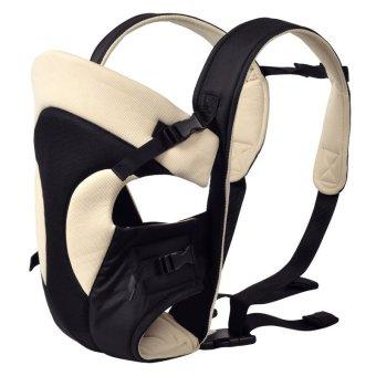 Địu trẻ em 4 tư thế thiết kế 3D có đỡ cổ Bethbear BS1303 (Sữa phối đen)