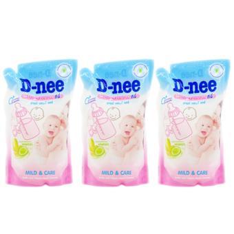 Bộ 3 bịch nước rửa bình sữa Dnee 400ml