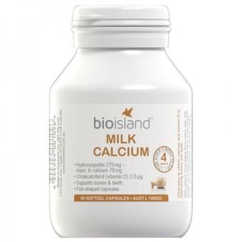 Kẹo bổ sung Canxi milk cho bé Bio Island 90 viên