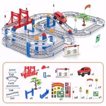Bộ đồ chơi cao cấp Lắp ráp đường ray cho ô tô chạy, phát triển trí thông minh cho bé.