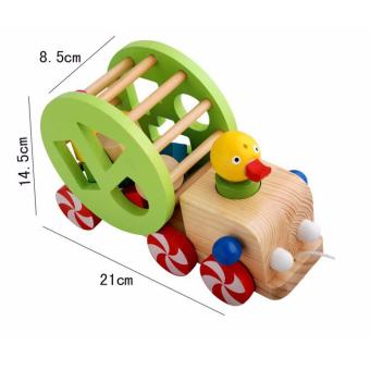 Đồ chơi gỗ dạng xe kéo - Vịt thả khối