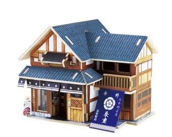 Bộ xếp hình 3D bằng gỗ mô hình Phòng trà F120
