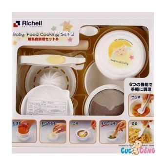 Bộ chế biến thức ăn dặm Kiểu Nhật Richell