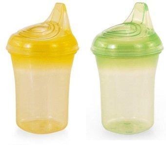 Bộ 2 cốc tập uống chống đổ UPASS hữu cơ UP0188VL (Vàng xanh lá)