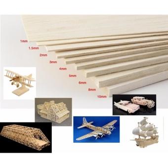 Combo 3 tấm gỗ siêu nhẹ balsa 3mmx100mmx330mm chuyên dụng làm mô hình máy bay điều khiển từ xa, tàu, xe, nhà cửa, trang trí