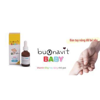 Vitamin tổng hợp dạng nhỏ giọt Buonavit Baby, vị cốm, hàm lượng vitamin cao, lọ 20ml