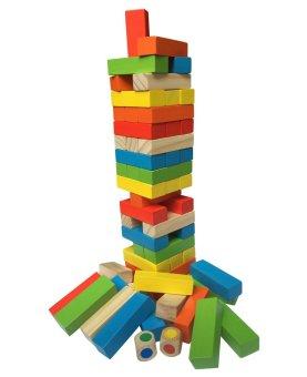 Bộ đồ chơi rút gỗ 48 thanh màu sắc
