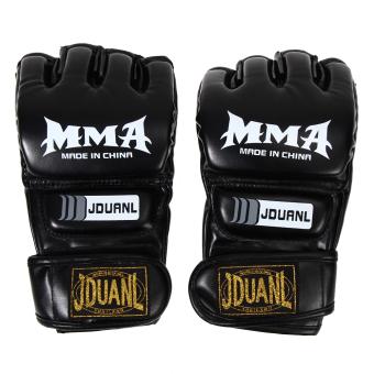 Muay Thai Gym Punching Bag Half Mitt Train Sparring Kick Boxing Gloves - intl