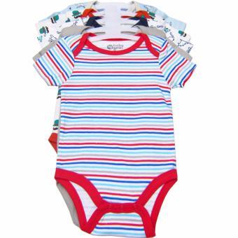 Bộ 5 áo liền quần bé trai từ 3 đến 12 tháng BG (Màu sắc ngẫu nhiên)