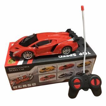 Xe ô tô điều khiển từ xa lambogini cho bé (Đỏ)