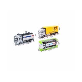 2 Xe Tải Sắt Chạy Bánh Đà xăng dầu và xe tải