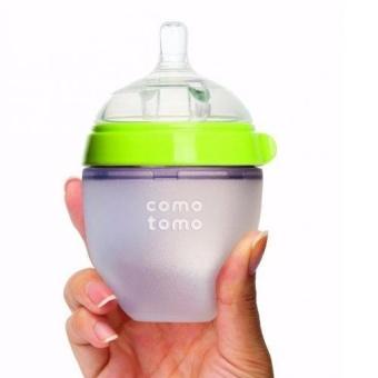 Bình sữa COMOTOMO 150ml siêu mềm (xanh)