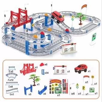 Đồ chơi Sáng tạo lắp ráp đường ray cho ô tô chạy
