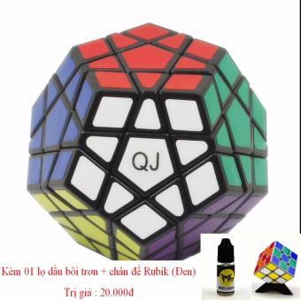 Đô chơi Rubik' cube 12 mặt (14+) Megaminx tặng kèm dầu bôi trơn + kệ đỡ