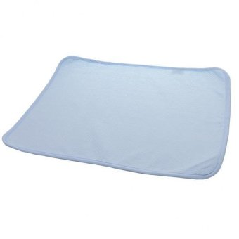 BolehDeals Reusable Bamboo Changing Pad for Change Diaper Stroller Bed Play Crib Blue S - intl