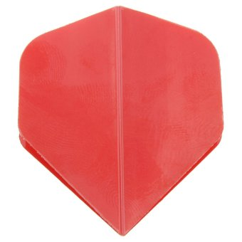 Solid Color Standard Tail Flights Replacement Accessory Part For Steel Tip Darts (Red) - intl
