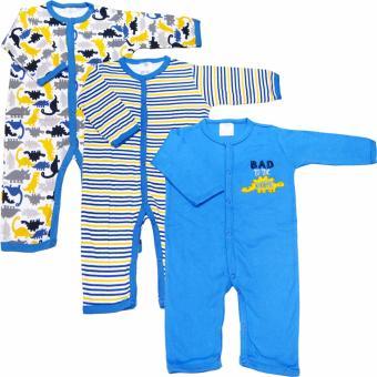 Bộ 3 áo liền quần dài bé trai từ 3 đến 12 tháng Baby Gear (Mẫu khủng long)