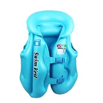 Áo phao OEM trẻ em Swim West (xanh) - Size M