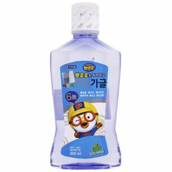 Nước súc miệng trẻ em bảo vệ răng khỏi các loại vi khuẩn có hại Pororo vị táo Hàn Quốc 300ml - Hàng Chính Hãng