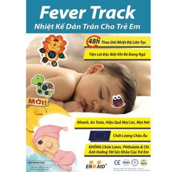 Nhiệt kế dán trán cho trẻ em - FeverTrack (Rùa, Heo, Bọ)