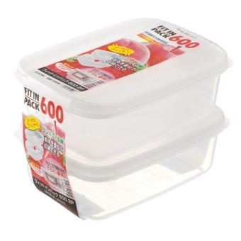 Set 2 Hộp trữ thức ăn cho Bé Sanada Seiko Japan nắp trắng 600ml