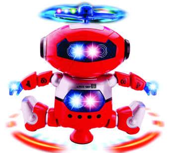 Đồ chơi Robot xoay nhảy múa 360 độ (Đỏ)