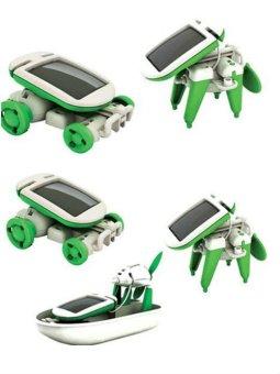 Bộ đồ chơi lắp ghép luyện tư duy 6 trong 1, Pin năng lượng mặt trời RBKDCGD01 C584 (Xanh - Trắng)