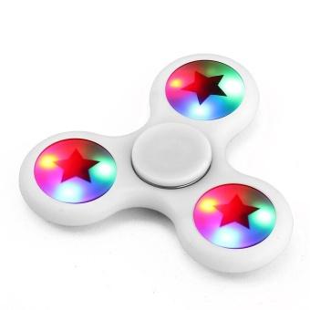 LED Light Fidget Hand Spinner Torqbar Finger Toy EDC Focus Gyro Fast Shipping White - intl