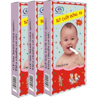Bộ 10 hộp Rơ lưỡi bằng vải một lần tiện lợi Đông Fa 3 con nai