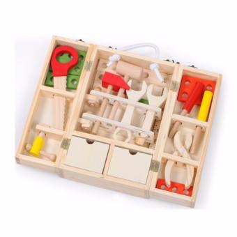 Bộ đồ chơi lắp ghép khoan mộc bằng gỗ
