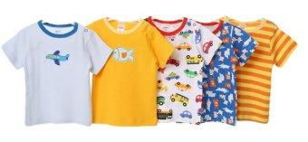 Bộ 5 áo cài vai cộc tay Carter's bé trai