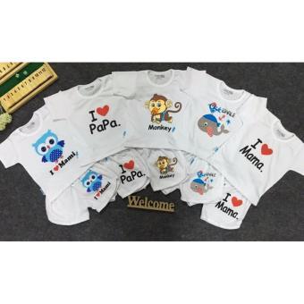 Combo 5 Bộ áo tay ngắn quần đùi thể thao (trắng) (6-36 tháng)