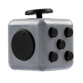 Mini Portable Fashion 1.3inches Fidget Cube Relieves Stress Anxiety 6-sides Desk Toy for Children Adults Anxiety Attention Light-gray - intl