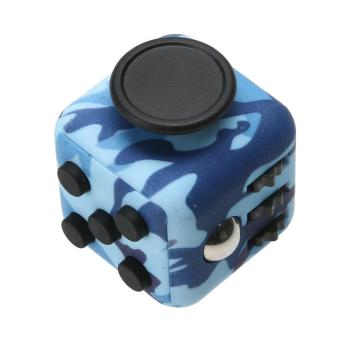 Camouflage Fidget Cube Anxiety Stress Relief Kids Adults Desk Toy (Blue) - intl