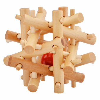 Kong Ming Luban Lock Kids Adult Wooden Intellectual Puzzle Brain Tease Toy - intl