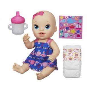 Em bé uống sữa BABY ALIVE A9292 (áo xanh)