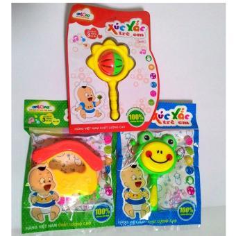 Bộ 3 xúc xắc Antona cho bé hàng Việt Nam (hình thú, mái nhà, chùy)