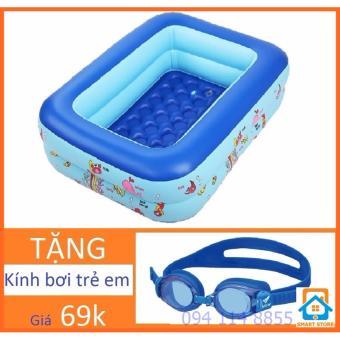 Bể bơi chữ nhật Tặng kính bơi cho trẻ Smart Store