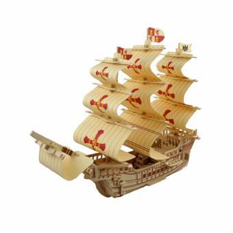 Bộ xếp hình 3D mô hình tàu Santa Maria