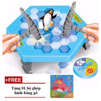 Phá băng cứu chim cánh cụt - Tặng 01 bộ xếp hình bằng gỗ
