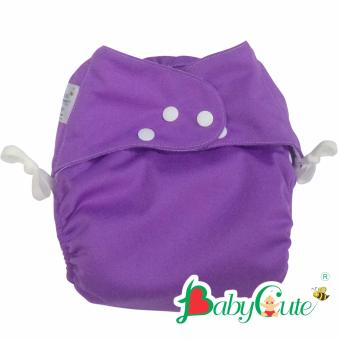 Bộ tã vải đêm BabyCute size M (8-16kg) Tím