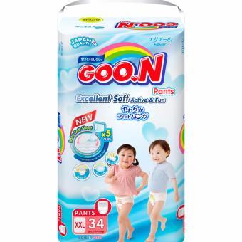 Tã quần Goon XXL34 15-25 kg (Trung tính XXL)