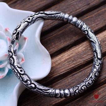 Vòng bạc Thái 925 chạm Rồng cho nam