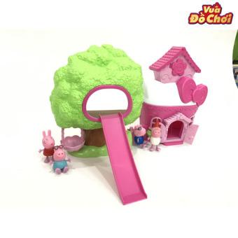 Bộ đồ chơi Peppa Pig nhà và cây