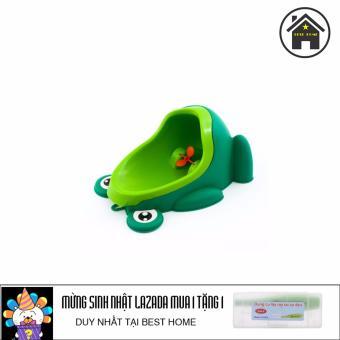 Bô vệ sinh chú ếch thông minh + Tặng dụng cụ lấy ráy tai có đèn
