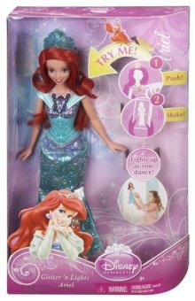 Búp bê Nàng Tiên Cá phát ánh sáng Disney Princess Glittering Lights Ariel Doll